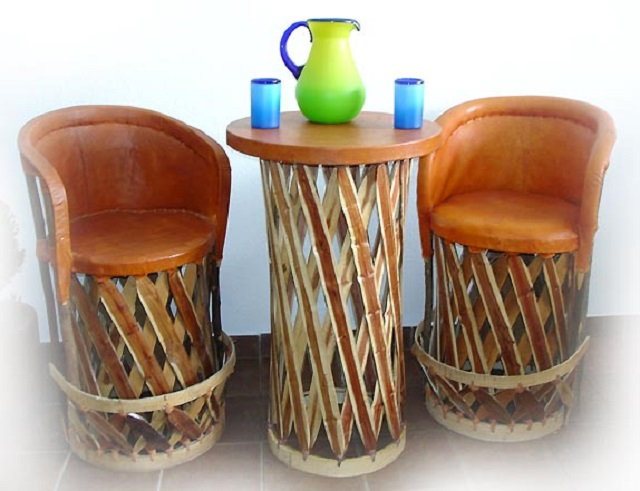 rustic bar stools from Mexico