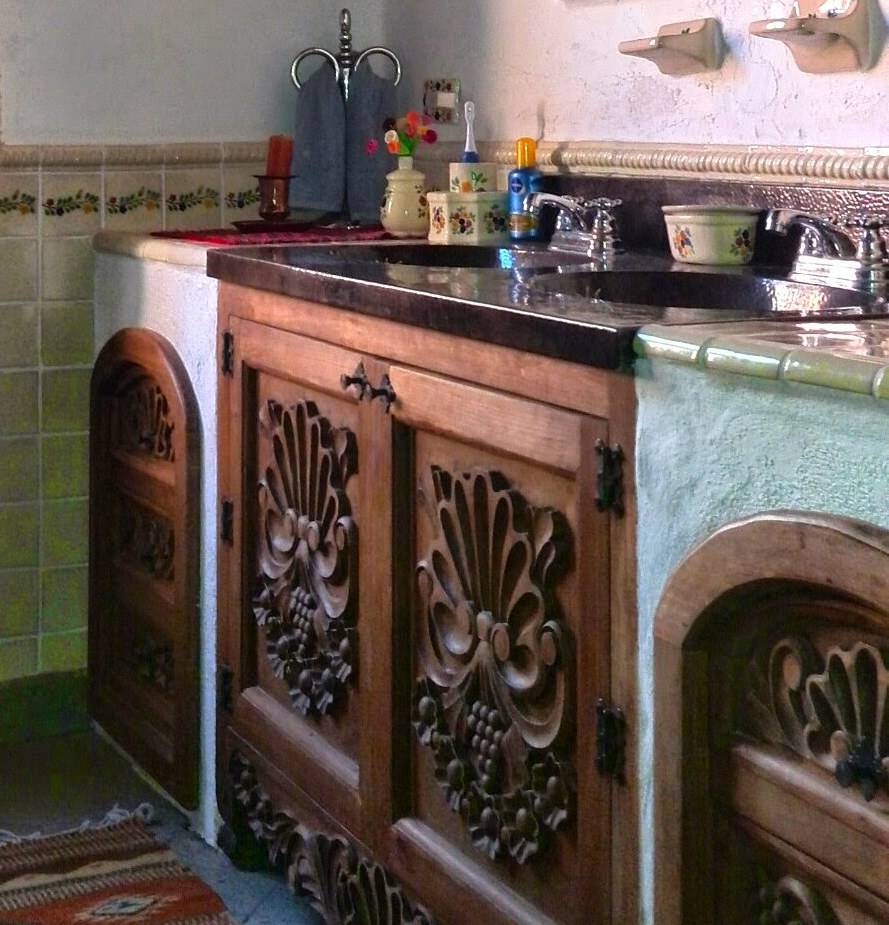 copper bathroom counters