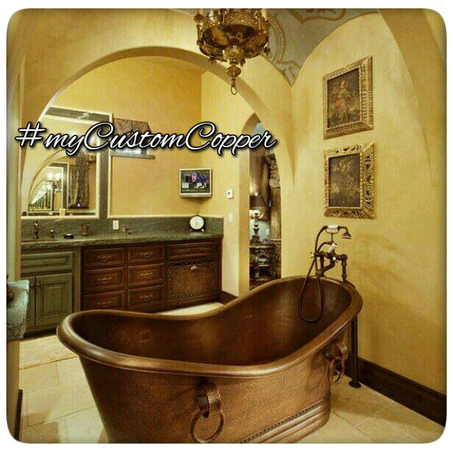 copper bathtubs