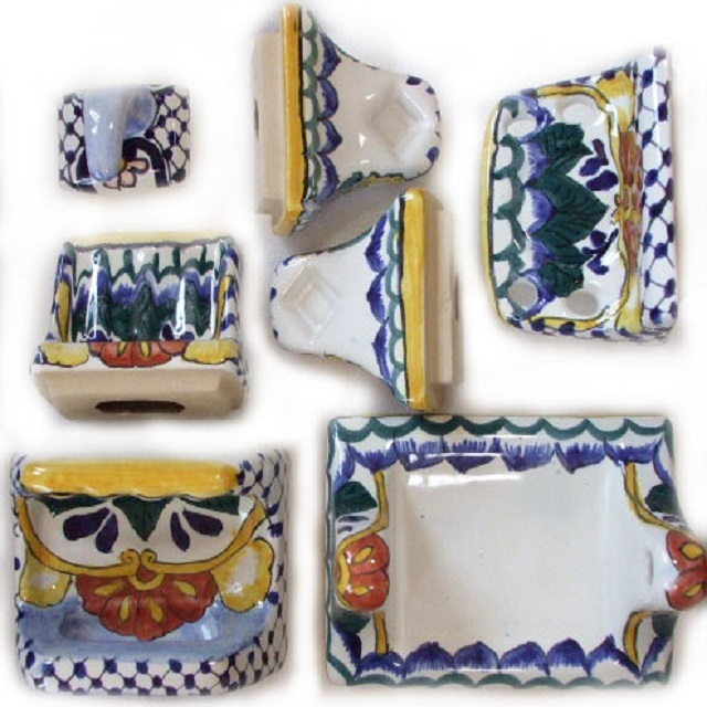 Talavera decorations for Fancy bathroom sets