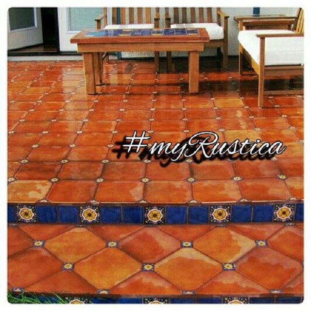 handmade stair riser tiles