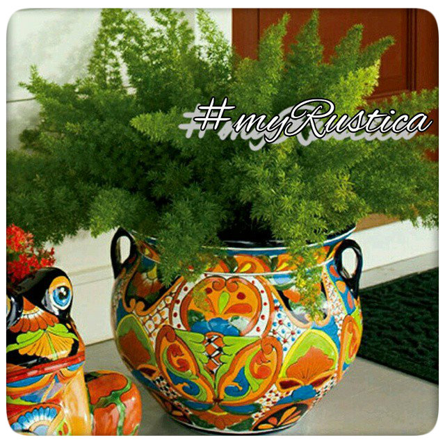 mexican flower pots and talavera planters