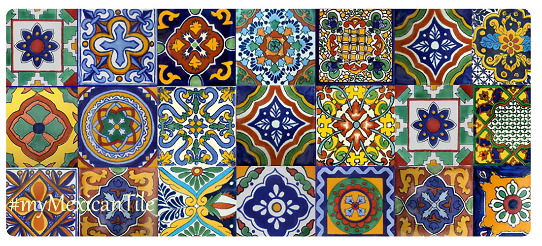 mexican tiles mixed patterns