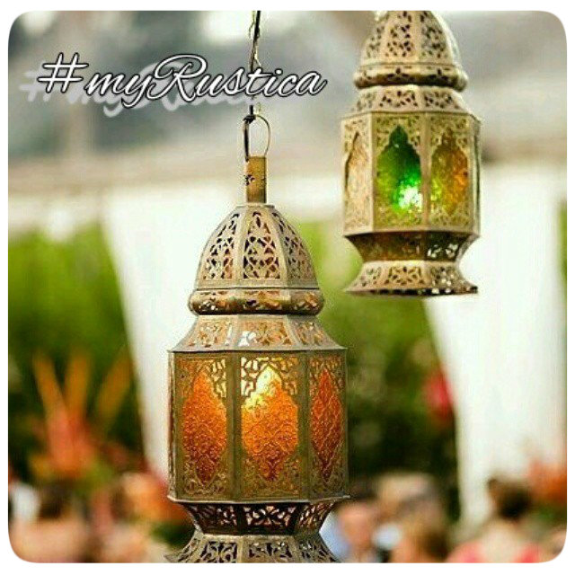 punched tin lamps, chandeliers and lanterns