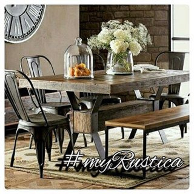 rustic dining rooms photos