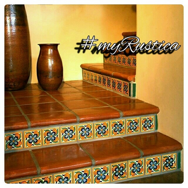rustic floor and stair tiles