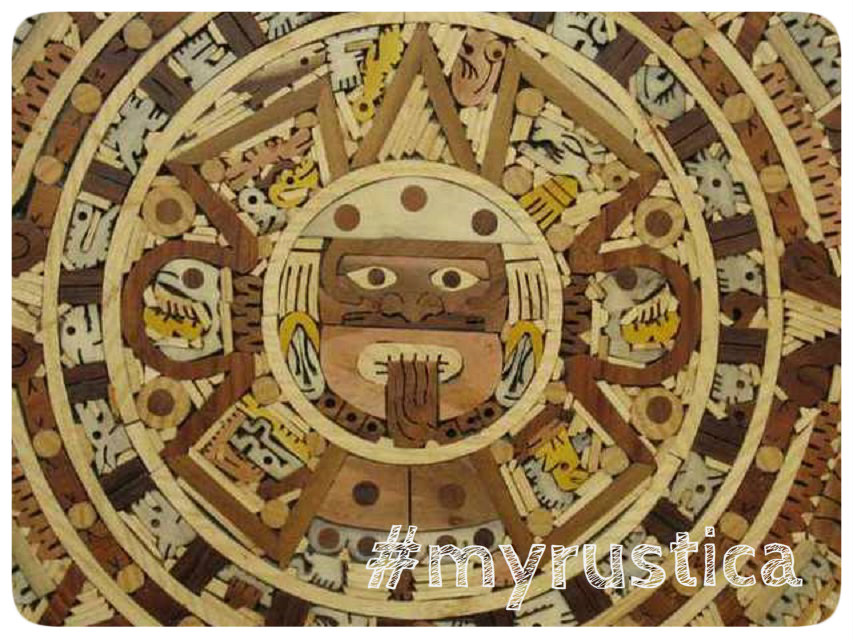 rustic home accent wall aztec calendars