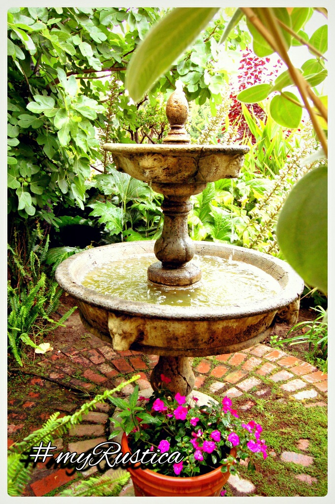 rustic garden stone fountains