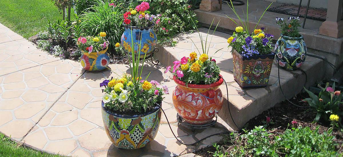rustica decorative garden, patio, balcony pottery from  Mexico