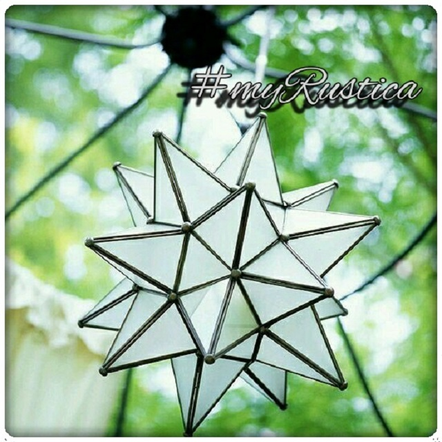 decorative tin glass star lamps from Mexico