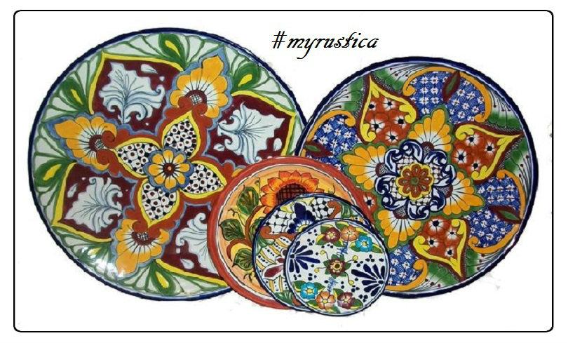 decorative plates and talavera tableware  sc 1 st  Rustica House & Custom Made Talavera Plate Yellow Red