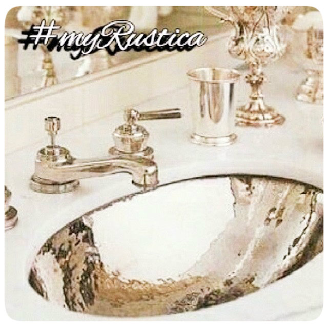 hammered zinc sinks for modern, art deco and country bath