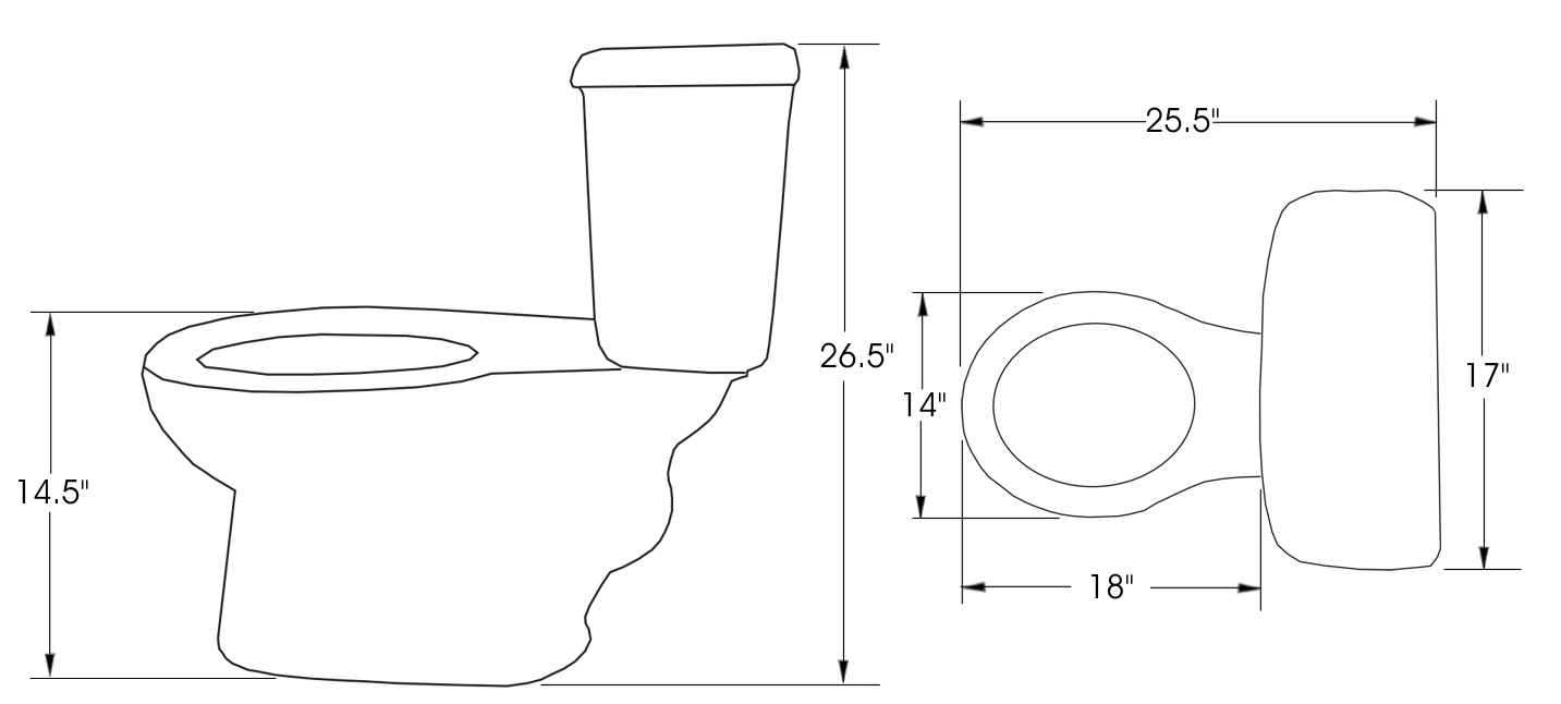 toilet dimensions mexican toilets 909
