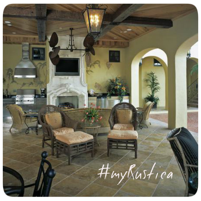outdoor living collection with rustic arbors, garden trellises, handmade veranda furniture, patio heaters and decorative hammocks