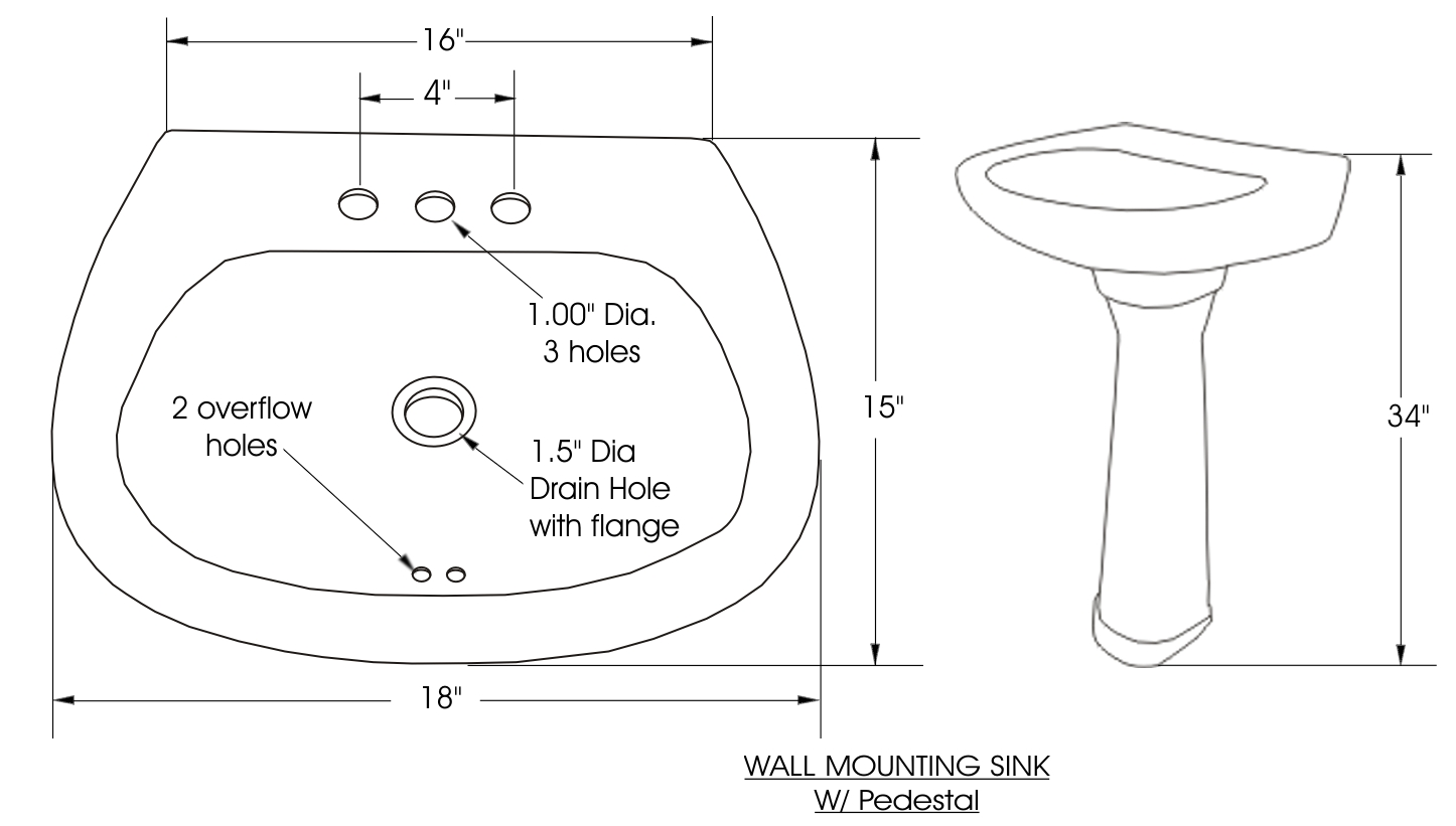 Decorative Pedestal Bathroom Sink