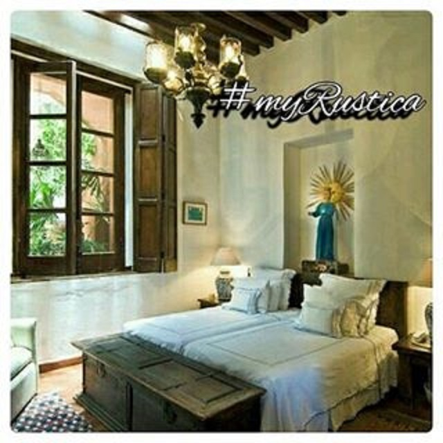 rustic bedrooms furnishings in colonial style include decorative headboards, hacienda armories, mexican furniture, dressers and colonial mirror frames