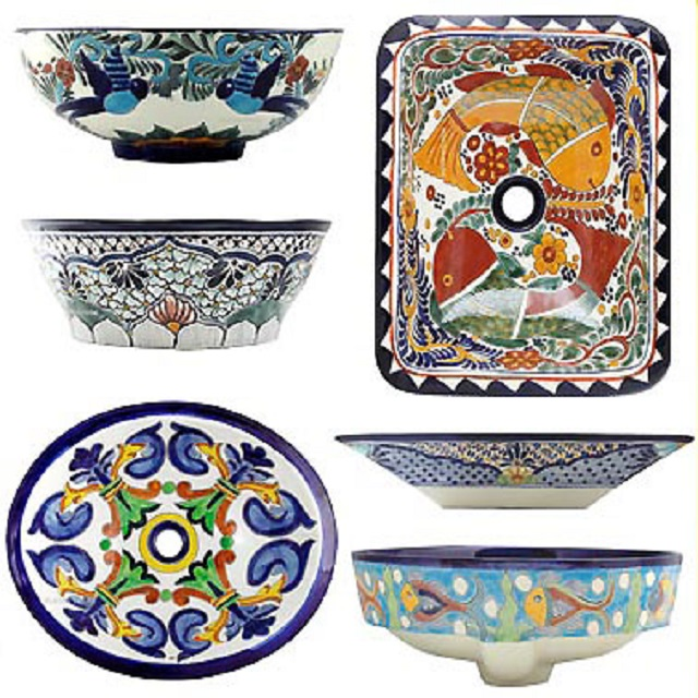 mexican bathroom sink rectangular talavera vessel sink mexican 13640